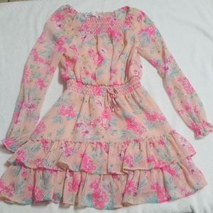 Epic threads floral ruffle dress small